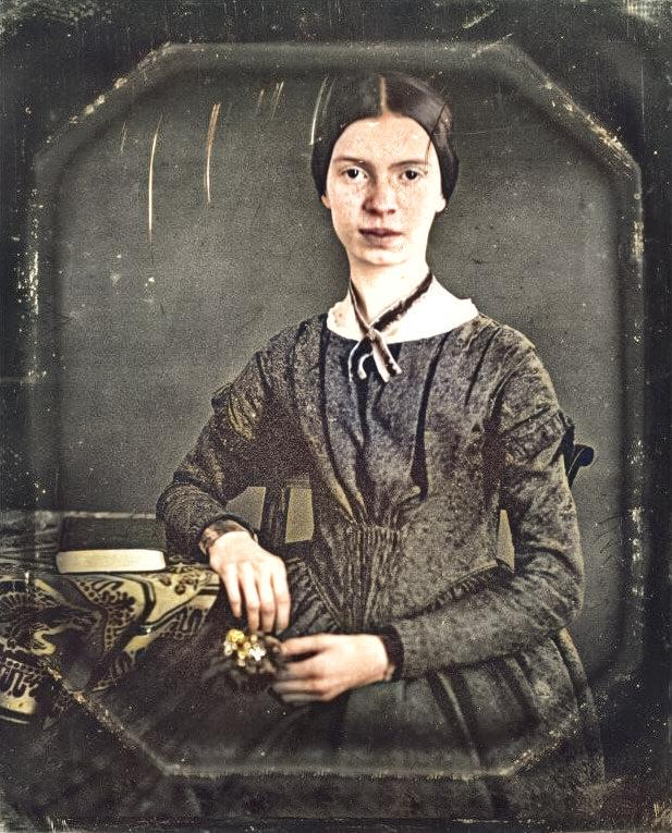 Emily Dickinson (1830-1886) Daguerrotype taken at about 1848