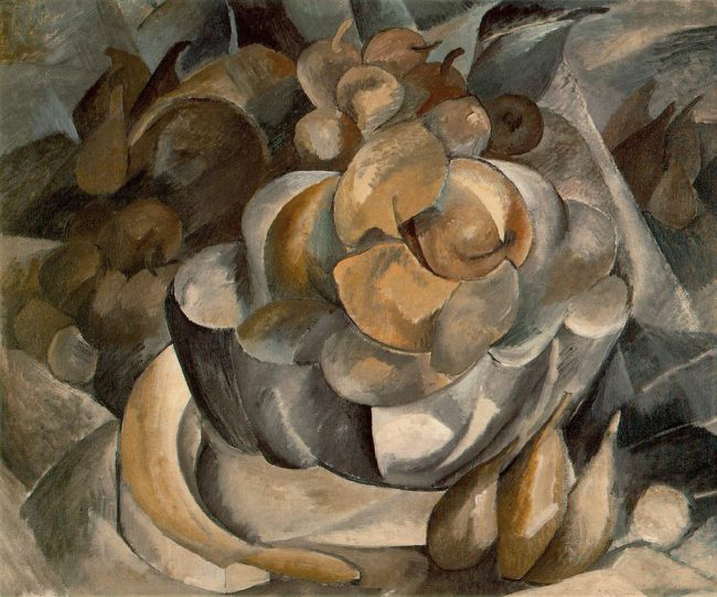 Georges Braque, 1908-09, Fruit Dish, oil on canvas