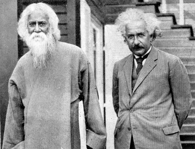 Rabindranath with Einstein in 1930