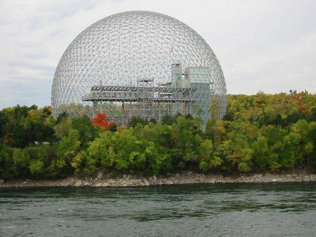 The Montreal Biosphère by Buckminster Fuller, 1967.