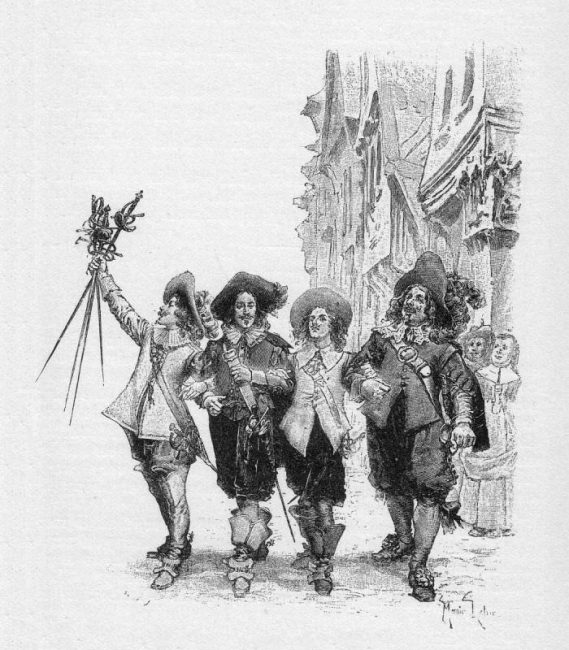 The Three Musketeers by Alexandre Dumas (illustration of the Appleton edition).