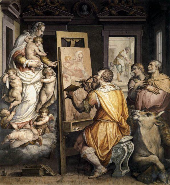 Giorgio Vasari, St Luke Painting the Virgin (1465)