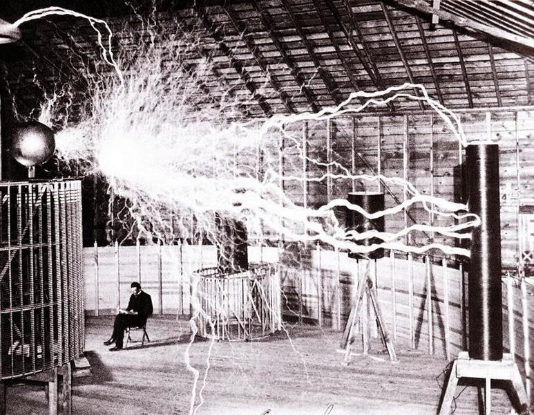 Nikola Tesla (1856 – 1943) at Colorado Springs