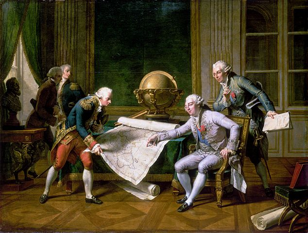 Louis XVI giving Lapérouse his instructions on 29 June 1785, by Nicolas-André Monsiau (1817).