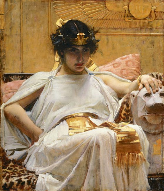 Cleopatra VII, painting by John William Waterhouse, 1888