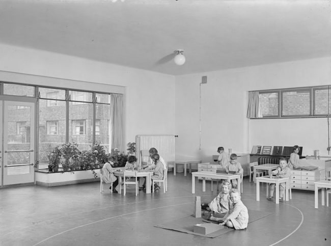 Montessori School in Hamburg, 1928. Photo: Staats- und Universitätsbibliothek Hamburg