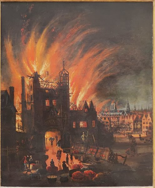 St. Paul's Cathedral in Flames by unknown painter