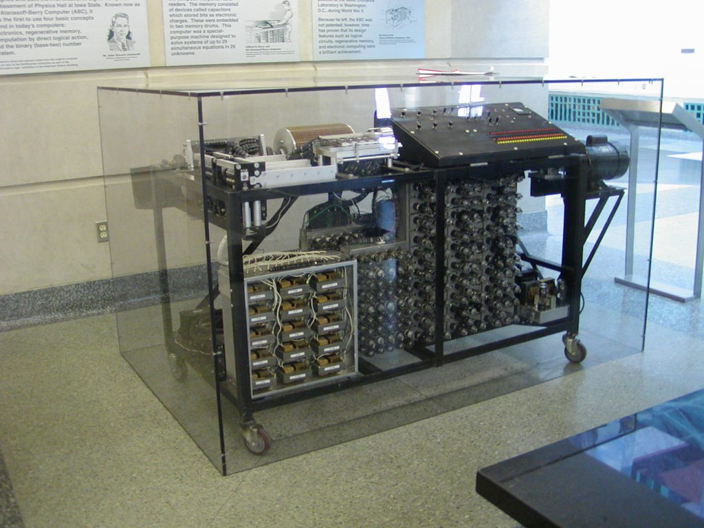 Replica of the Atanasoff-Berry computer in the Durham Center of Iowa State University