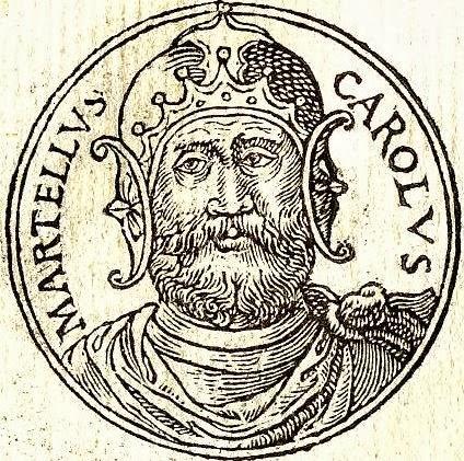 """Charles Martel (718-748) from """"Promptuarii Iconum Insigniorum"""" (1553)"""