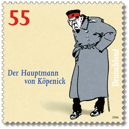 The Captain of Koepenick on a GErman Stamp, 2006