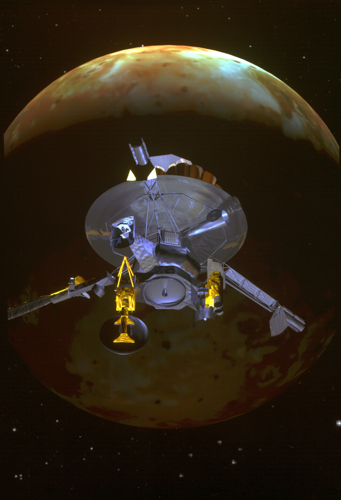Artist Impression of Galileo encountering Io