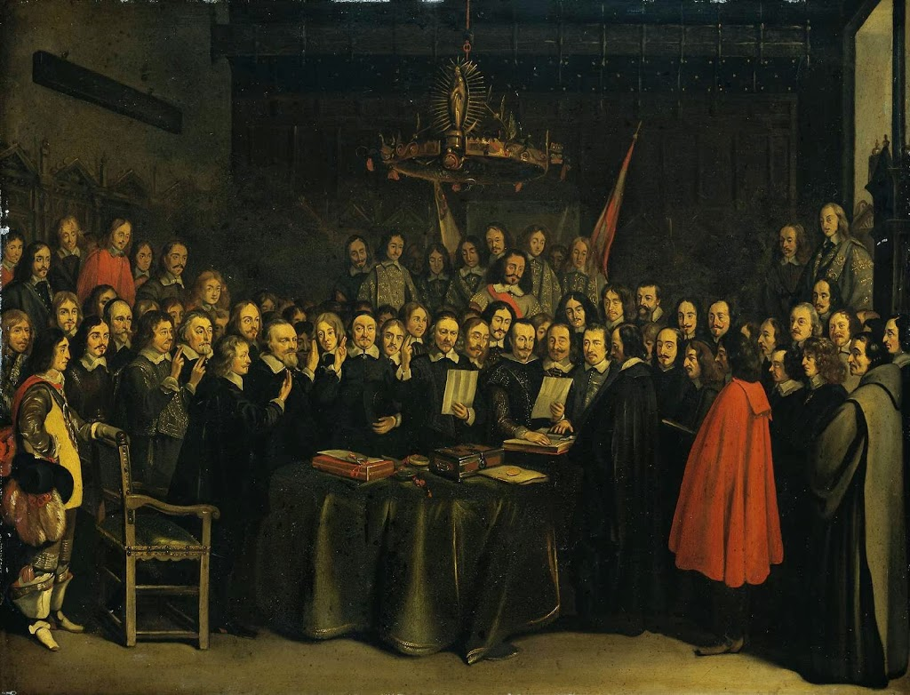 The Ratification of the Treaty of Munster, Painting by Gerard Ter Borch (1648)