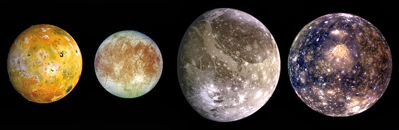 The four largest Jupiter moons