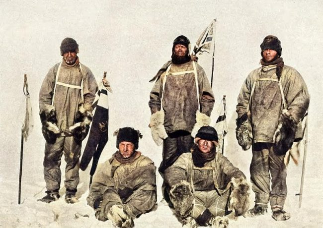 Robert Scott's group on 17 January 1912, after they discovered Amundsen had reached the pole first.