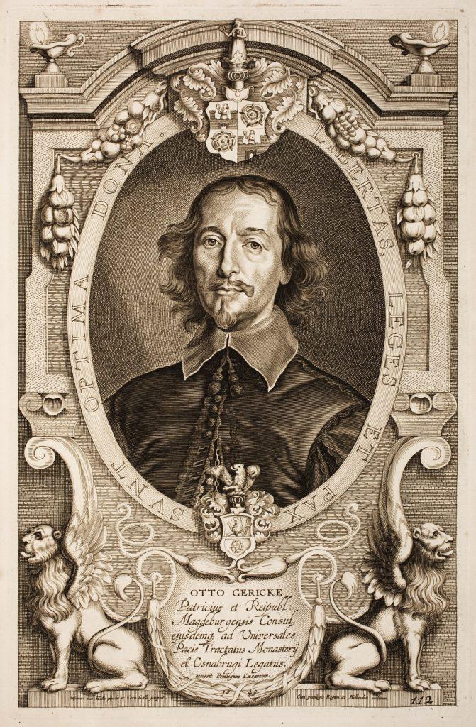 Portrait of Otto von Guericke (November 20, 1602 – May 11, 1686 (Julian calendar); November 30, 1602 – May 21, 1686 (Gregorian calendar))