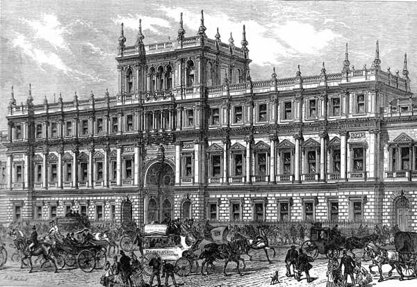 Burlington House, where the Royal Society was based between 1873 and 1967