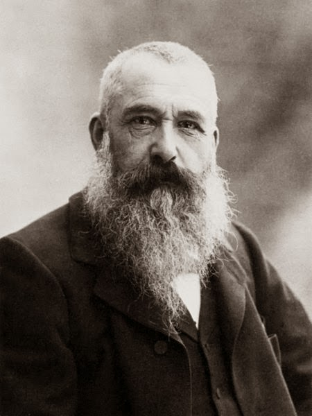 Claude Monet on a picture taken by Nadar in 1899.