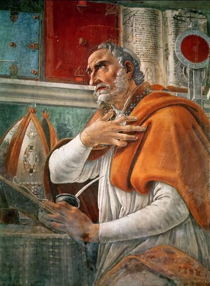 St Augustine in his Study, Painting by Sandro Botticelli (1480)