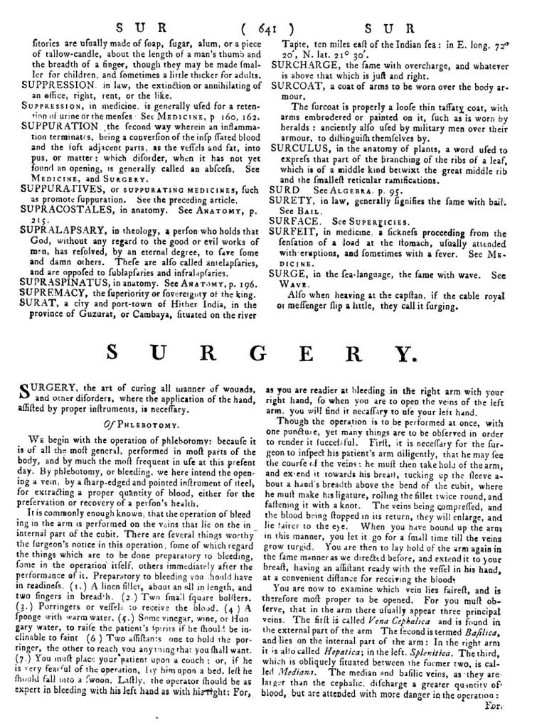 A page from the first edition. The flow of short entries is interrupted here by one of the major treatises.
