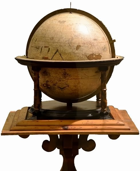 One of the remaining globes by Mercator