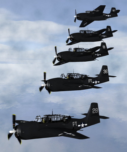 "Artist's depiction of the five TBM Avengers that disappeared <a title=""User:Anynobody"" href=""http://commons.wikimedia.org/wiki/User:Anynobody"">Image: Anynobody</a>"