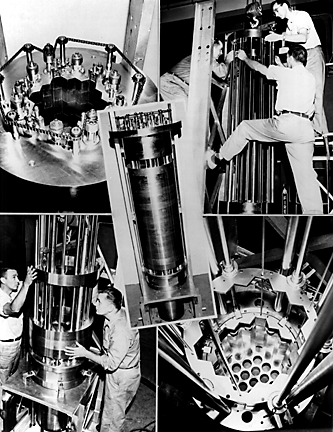 The first four light bulbs lit with electricity generated from the EBR-1 reactor