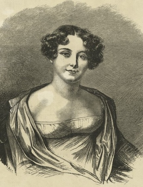 Jane Franklin in the NYPL sketched in 1816 by Amelie Romilly in Geneva