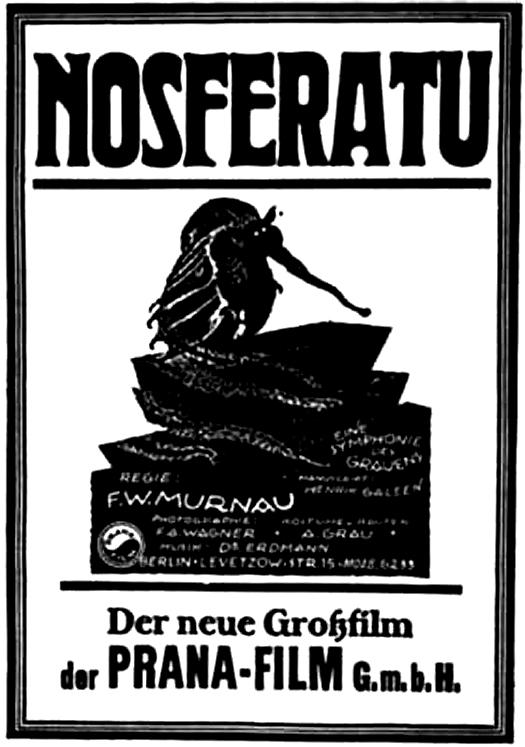 A promotional film poster for Nosferatu.