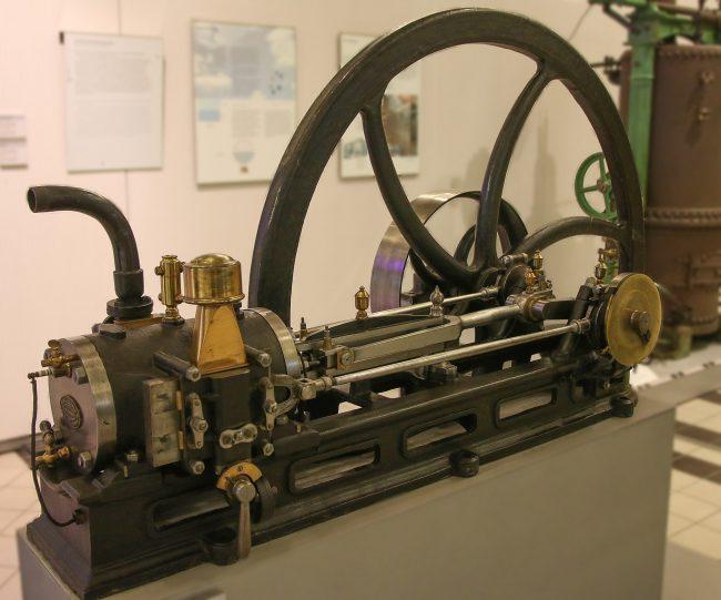 Lenoir-Gasmotor im Technischen Museum Wien