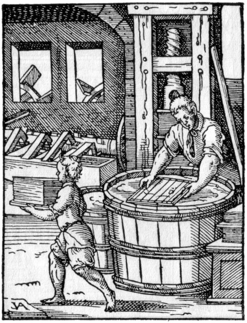 The Papyrer from Jost Amman's Ständebuch (Book of Estates), 1568