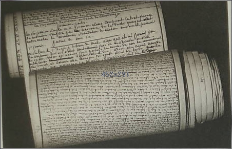 Original manuscript of the 120 days of Sodom of Sade (Roll of 12 meters long and 11 centimeters wide found at the Bastille.