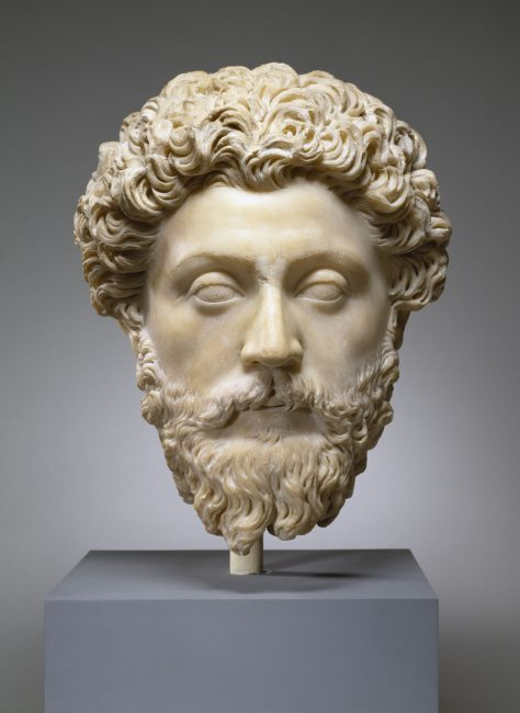 Marble portrait of Marcus Aurelius, The Walters Art Museum.