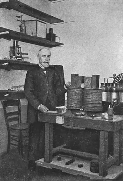 Henri Becquerel in his lab