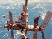 The Deorbit of Russian Space Station MIR
