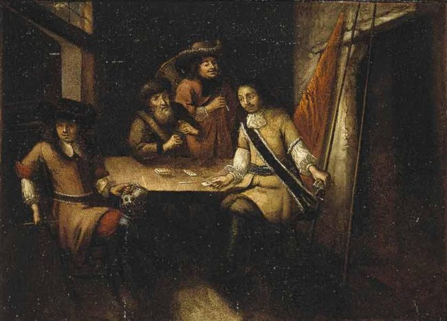 Peter I's conversation in Holland. Unknown Dutch artist. 1690s.