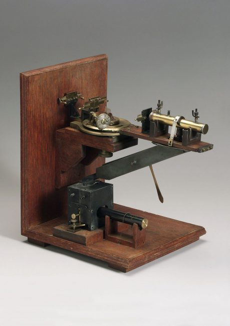 The first X-ray spectrometer designed by Sir William Lawrence Bragg (1890-1971), a physicist at Cambridge University. He was the first to show in 1921 that molecular structure could be deduced from the pattern of diffraction of X-rays by a crystal sample.