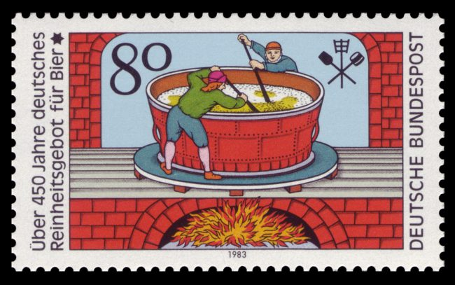 German stamp celebrating the history of the Reinheitsgebot