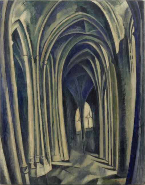Robert Delaunay, 1909-10, Saint-Séverin No. 3, oil on canvas, 114.1 × 88.6 cm, Solomon R. Guggenheim Museum