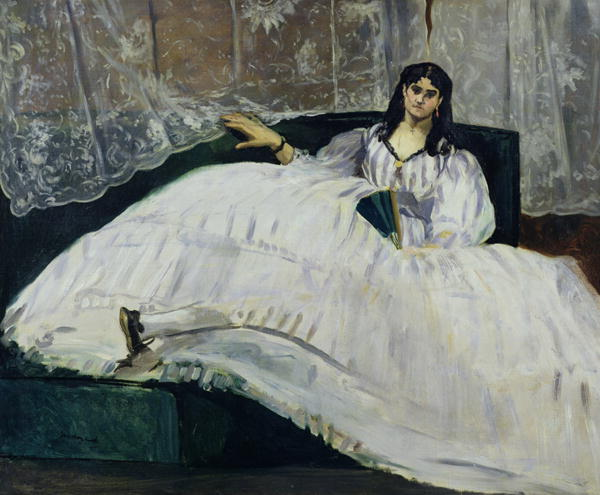 Jeanne Duval, painted by Édouard Manet in 1862 (Budapest Museum of Fine Arts)