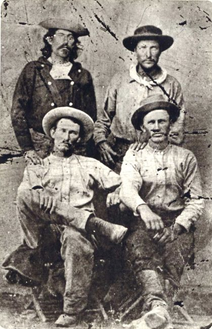 """Riders of the Pony Express, """"Billy"""" Richardson, Johnny Fry, Charles Cliff, Gus Cliff"""