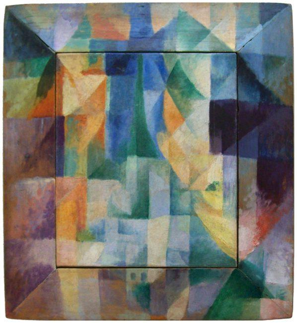 Robert Delaunay, 1912, Simultaneous Windows on the City, 40 x 46 cm, Kunsthalle Hamburg