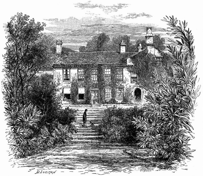 William Wordsworth's House, Rydal Mount, by B. S. Kelton (circa 1897)