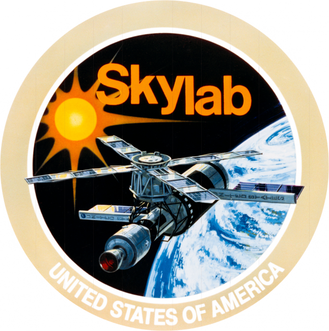 This is the official emblem for the National Aeronautics and Space Administration's (NASA) Skylab Program