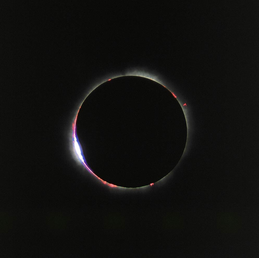 """""""Baily Beads"""" at the Solar eclipse from 1999"""