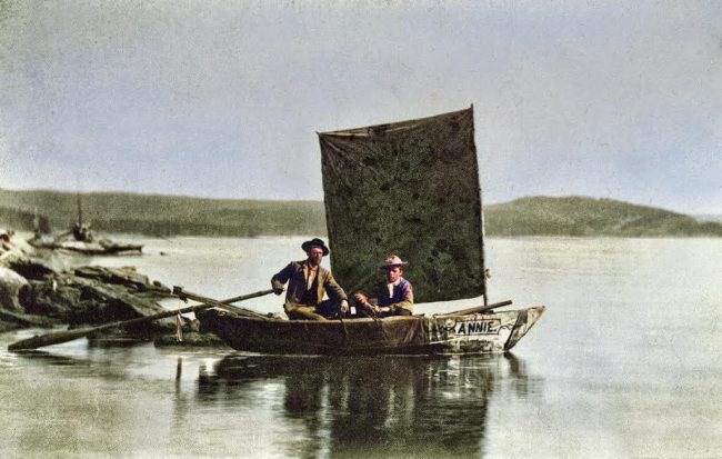The Annie, first boat ever launched on Yellowstone Lake Photo: William Henry Jackson