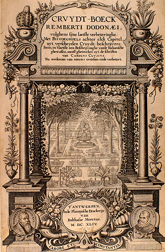 Title page of Cruydt-Boeck (1644 edition) of Rembert Dodoens (1517-1585)