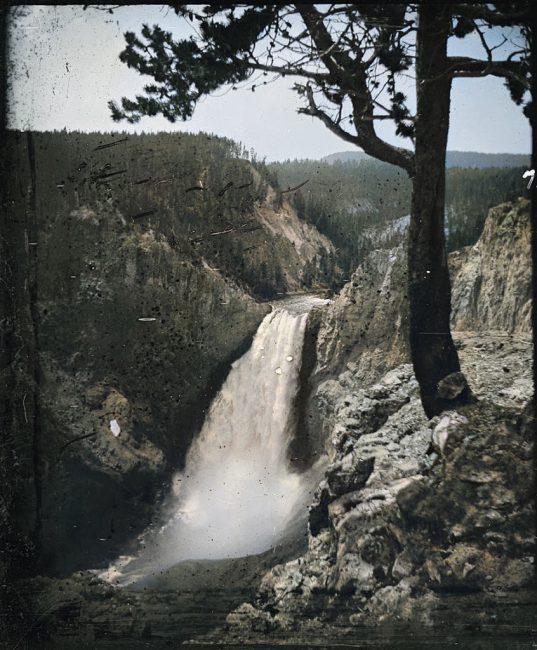 Lower Yellowstone Falls Photo: William Henry Jackson
