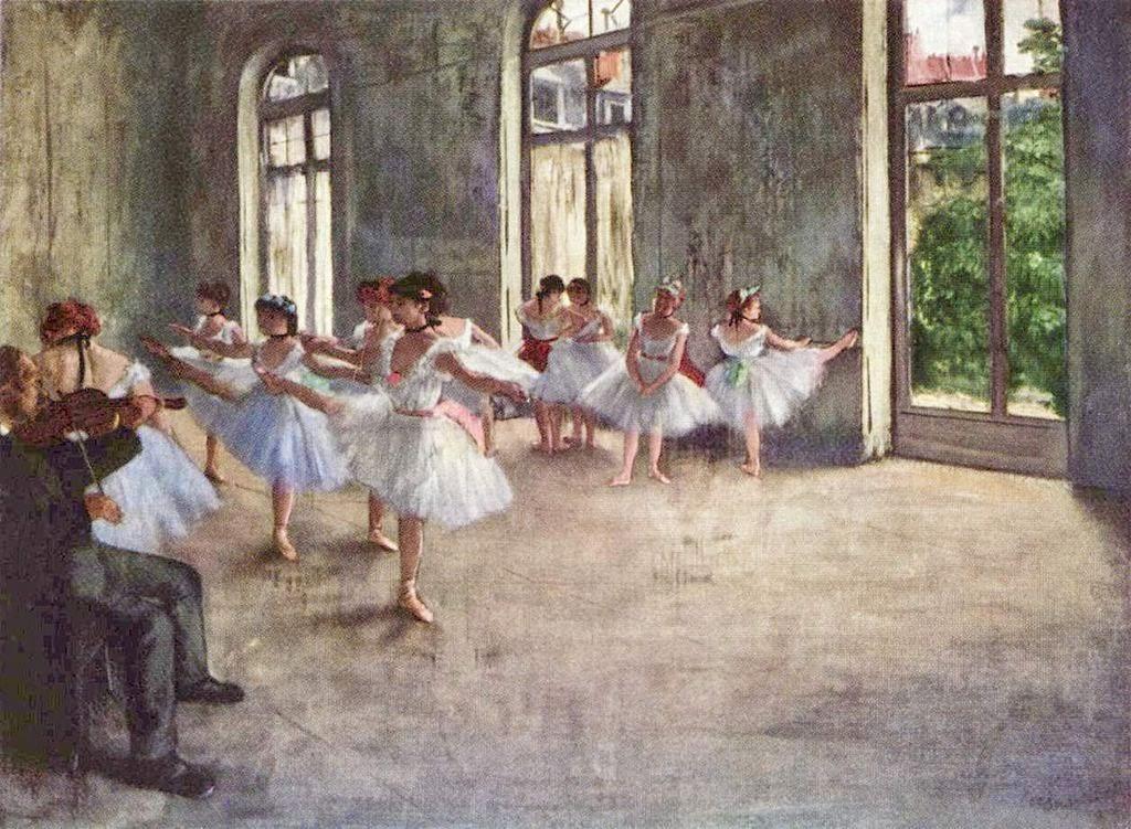 Ballet Class (1873) by Edgar Degas