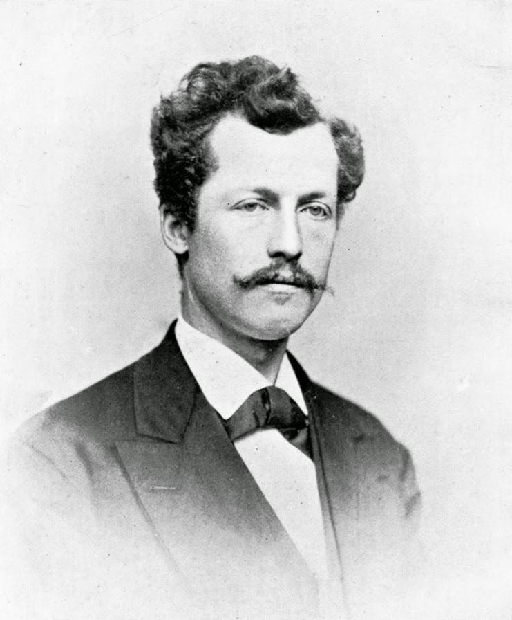 Ottmar Mergenthaler (1854-1899) Photo taken at age 25 in 1879