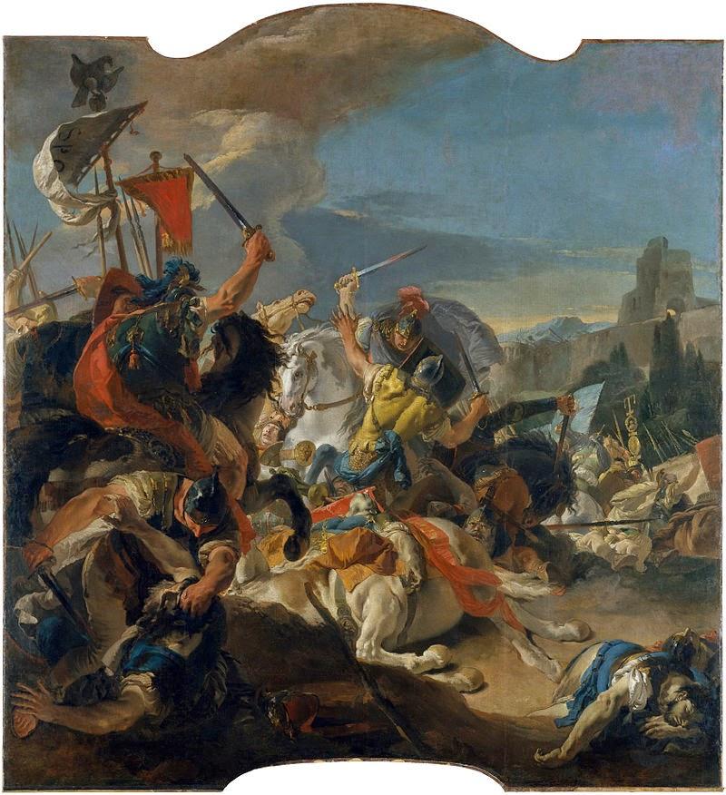 Giovanni Battista Tiepolo, The battle of Vercellae, from the Ca' Dolfin Tiepolos, 1725-1729